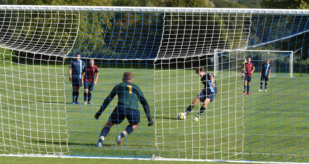 Bradfield score from the penalty spot against Repton